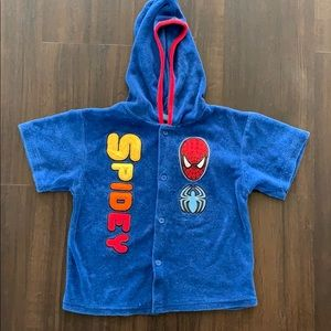Spider-Man boys bathing suit cover up top 4t 4